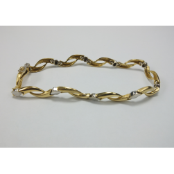 BRACELET GOLD YELLOW AND WHITE