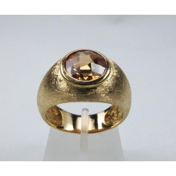 RING YELLOW GOLD WITH CITRINE