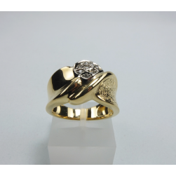 RING WHITE AND YELLOW GOLD WITH BRILLIANT