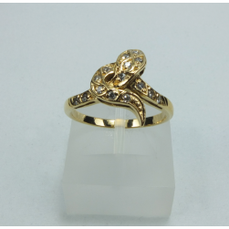 RING YELLOW GOLD WITH BRILLIANT