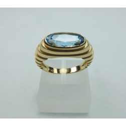RING YELLOW GOLD WITH TOPAZ
