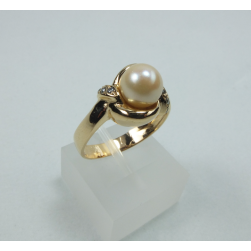 RING YELLOW GOLD WITH PEARL