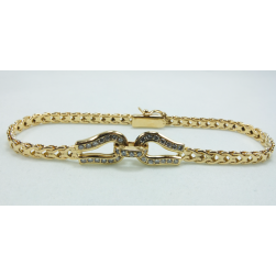 BRACELET YELLOW GOLD WITH BRILLIANT