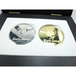 MEDALS GOLD AND SILVER UEFA EURO 2004