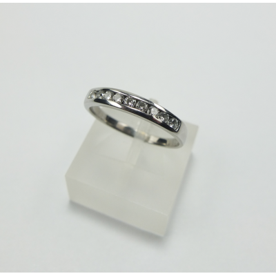 RING WHITE GOLD WITH SHINY