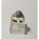 O-RING WHITE AND YELLOW GOLD WITH A SHINY