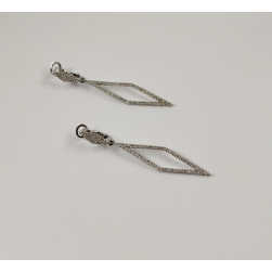 EARRINGS WHITE GOLD WITH BRILLIANT