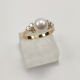 RING IN YELLOW GOLD WITH A BRIGHT WHITE PEARL