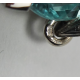 MEDAL IN WHITE GOLD WITH BRILLIANT, AQUAMARINE