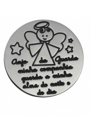 PASTE SILK C/ MEDAL-SILVER - PRAYER GUARDIAN ANGEL PASSION