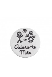 PASTE SILK C/ MEDAL IN SILVER - I LOVE YOU MOTHER PASSION