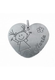 MÉDAILLE D'ARGENT-HEARTED GIRL PASSION
