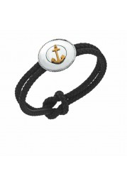 BRACELET COTTON WITH ANCHORS IN SILVER, PASSION