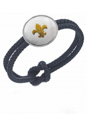 BRACELET IN COTTON WITH FLOWER OF LIZ OF SILVER PASSION