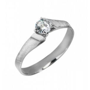 RING SILVER SOLITAIRE WITH ZIRCÓNIAS PASSION