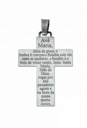 "CROSS SILVER ""HAIL MARY"" PASSION"