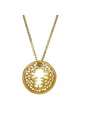 NECKLACE WITH SILVER MEDAL GIRL FILIGREE F. A.