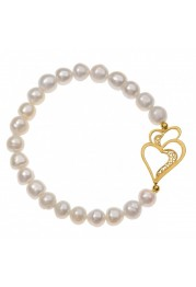 BRACELET SILVER PEARLS, the HEART OF VIANA F. A.
