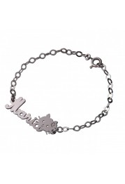 BRACELET SILVER WITH GIRL MOST NAME F. A.