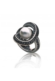 RING WITH PEARL AND ZIRCÓNIAS F. A.