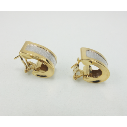 EARRINGS WHITE AND YELLOW GOLD