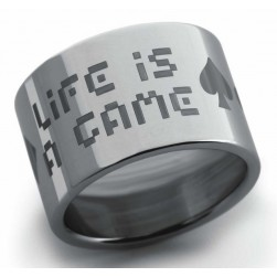 ANILLO HASSU PERSONNA PERPETUOS XL LIFE IS A GAME