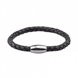 "PULSERA HASSU ""LEATHER BLACK STYLE"""