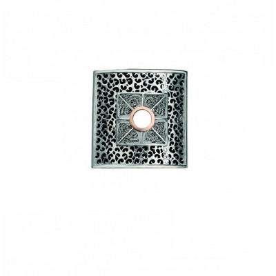 MEDAL SILVER AND GOLD FILIGREE PIN
