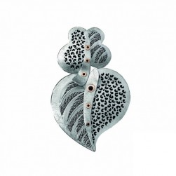 HEART SILVER AND GOLD FILIGREE - VIANA