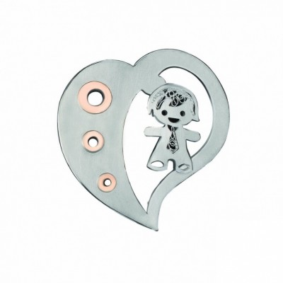 HEART SILVER AND GOLD FILIGREE - BOY