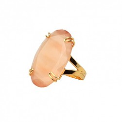 RING STONE CHAMPAGNE GOLD