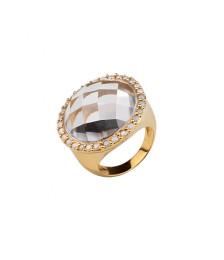 RING WHITE STONE ZIRCONIA WHITE GOLD