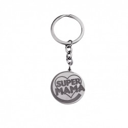"KEY CHAIN ""SUPER MAMA"""